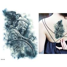 Diy Body Art Temporary Tattoo Viking Mars Decal Waterproof God Tattoos Sticker