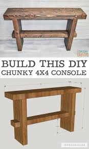 how to build rustic furniture. diy chunky rustic console furniture plansrustic how to build