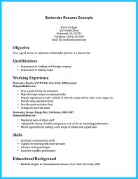 Bartender Resume Template Microsoft Word Restaurant Bar Resume