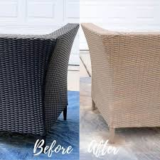 spray paint outdoor resin wicker