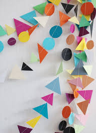 colorful paper garland 39 simple and spectacular diy wall art