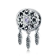 Dream Catcher Charm Bracelet Adorable Dream Catcher Charm Sterling Silver Fit Pandora Bracelet Loulu Charms