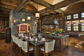 Wholesale Kitchen Cabinets Custom Country Kitchen With Dining Table