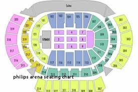 Philips Arena Seating Chart Concert Meticulous The Philips Arena Seating Chart Philips Arena