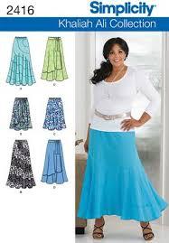 Plus Size Skirt Patterns Gorgeous Simplicity 48 Misses Plus Size Skirts