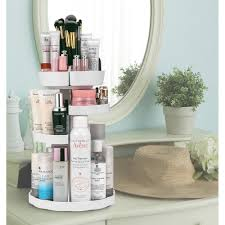 Jerrybox 360 Degree Rotating Makeup Organizer; Adjustable, Multi-Function  Cosmetic Storage Box; Fits Different Types of Cosmetics and Accessories; ...