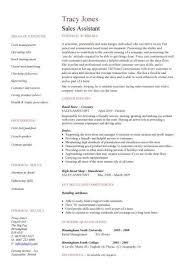 Cv Shop Assistant Retail Cv Template Sales Environment Sales Assistant Cv