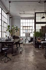Industrial Office Design New Studio Home Office Loft Work Space Vidrio R Pinterest Black