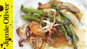 Asparagus & <b>Mixed Fish</b> Grill | Jamie Oliver - YouTube