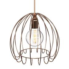 mesmerizing cage pendant light wire cage light guard copper round cage pendant light