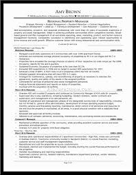 Resume Property Management Resume