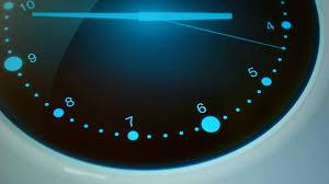 Futuristic Clock Time Background Dark Blue Background With Digital Clock Motion