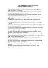 Список курсовых работ по методике русского языка