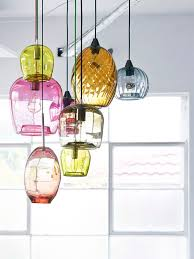 colorful pendant lighting. Colorful Glass Blown Pendant Lights. Interview · Mark Douglass - The Design Files Lighting R