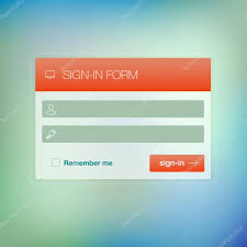 Modern User Interface Login Signup Screen Template For