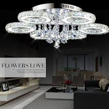 modern crystal led ceiling lights chandeliers 7 way