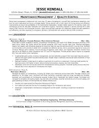 Supervisor Resume Adorable Maintenance Resume Sample Maintenance Resume Sample Awesome