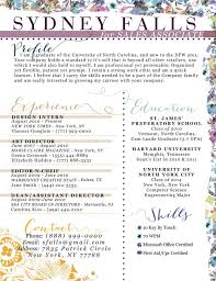 Unique floral resume by ambersoup on Etsy, $30.00