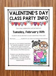 Valentines Day Letter Template New Classroom Party Letter Template Of Free Valentine S Day Letter