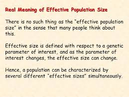 effective population size definition chapter 8 evolution in small populations the central problems are