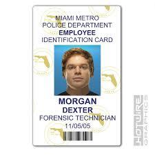 Card Forensics Dexter Series 620444490283 Ebay Morgan Plastic Police Pvc - tv Prop Id