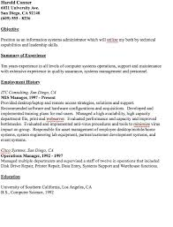 Example Of Mis Manager Resume Danetteforda