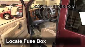 interior fuse box location gmc savana gmc interior fuse box location 1996 2014 gmc savana 1500 2004 gmc savana 1500 5 3l v8 standard cargo van
