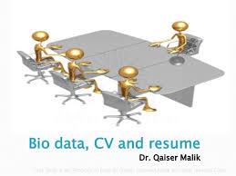 Lec 7 Bio Data Cv And Resume 1 Abc