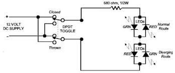 railroad line forums the first post circuit has only one bi polar led this second post of the circuit uses two led s take your pick