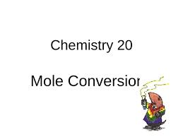 Chemistry 20 Mole Conversions