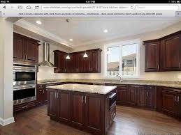 floors white granite dark kitchen cabinets ideas rhcom hickory floors cherry home hickory kitchen cabinet