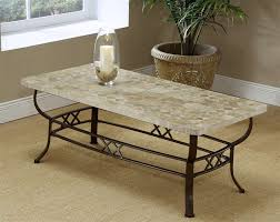 wrought iron coffee table with nature stone top wrought iron glass end table large