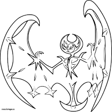Luxury Coloriage Lunala Pokemon Imprimer Mescoloriages Online