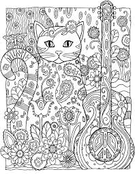 Galerie De Coloriages Gratuits Coloriage Adulte Animaux Chat