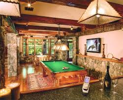 games room lighting. rustic game room with exposed beam flush light toltec lighting 3 pool table games