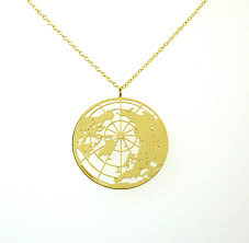 gold globe necklace delftia science