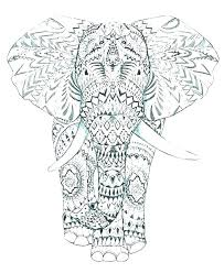 Elephant Color Page Elephant Color Pages Print Cute Coloring
