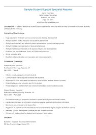 Explore Resume, Students, and more! Sample Student Support Specialist Resume
