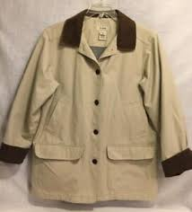 Ll Bean Size Chart Ladies Details About Ll Bean Womens Cotton Field Jacket Barn Coat Lined Large Beige