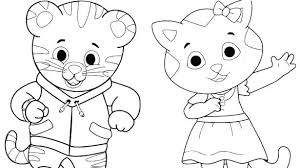 Coloring Pages Daniel Tiger Coloring Free Printable Tigers