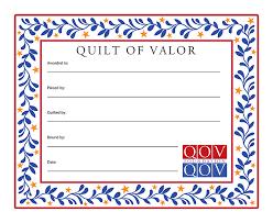Quilts Of Valor Star Vines Quilt Label &  Adamdwight.com