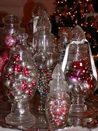 Decorative Glass Candy Jars VINTAGE CHRISTMAS DECORATING IDEAS Vintage Christmas Decorations 91