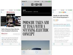 apple news. what it looks like to read a macstories, wired and six colors article in apple news