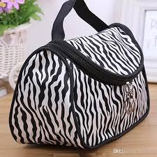 professional cosmetic bag zebra stripes makeup bags large capacity portable women cosmetic bags storage travel bags zebra stripes makeup bags cosmetic case
