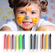 6 colors children face painting pencil kids drawing pen diy design paint crayon stick for party makeup in paint from beauty