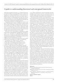 Pdf Theoretical And Conceptual Framework Mandatory Ingredients Of