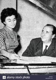 Italiano: Giorgio Favaretto e Adriana Martino . 1957. Unknown 54 Martino  Favaretto Stock Photo - Alamy