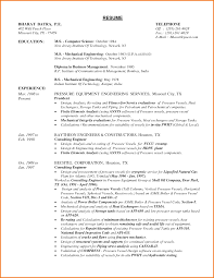 Resume Format For Freshers Computer Science Engineers Free Download Mechanical Engineer Cv Toreto Co Engineering Resume Format For 61