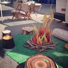 pictures gallery of best of how to make a fake fire pit diy faux campfire pool noodle ideas props diy fake logs vbs