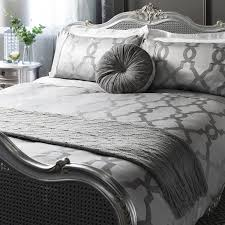 image of luxury duvet cover grey